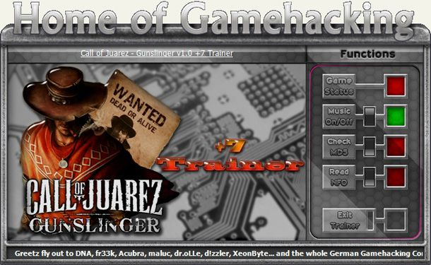 Call of Juarez: Gunslinger Steam 1.0 +6 Trainer [HoG]