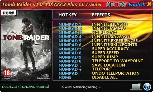 TOMB RAIDER 1.0.716.5-1.0.722.3 +11 TRAINER [FLING]