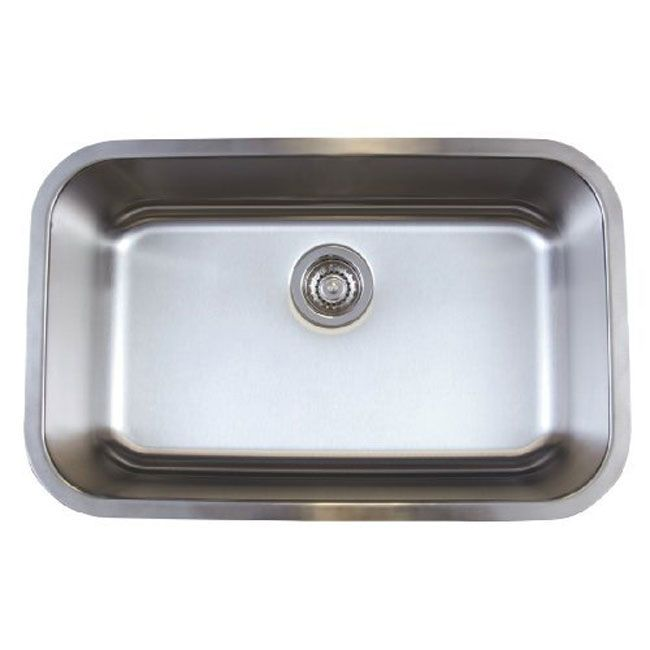 Single Undermount Sink : ... -BL441025-Stellar-Medium-Single-Bowl-Undermount-Sink-Refined-Brushed