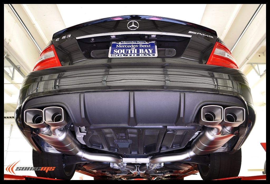 Sonic ms mercedes c63 amg akrapovic evolution exhaust for Mercedes benz exhaust