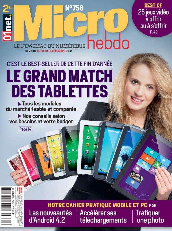 Micro Hebdo N°758 du 13 au 19 Décembre 2012